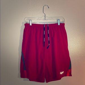 "❤️Men's Nike Dri-Fit 9"" Red Running Shorts❤️"